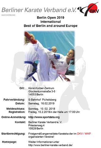 Karate World: «Berlin Open» 2019